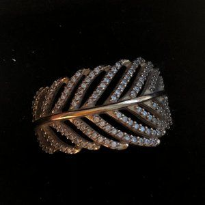 14K Rose Gold Pandora Feather Ring